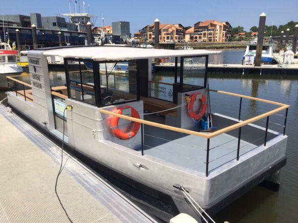 L'E-Boucarot, le bateau-passeur électrique capbretonnais