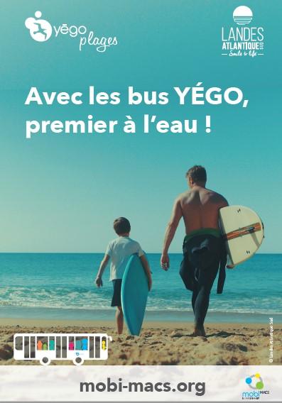 navette gratuite Yégo plage Landes