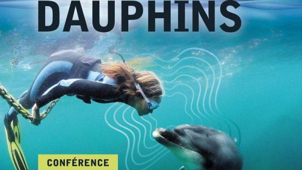 Elle parle avec les dauphins